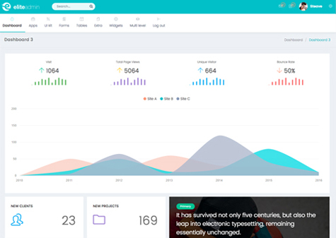 Elite Admin Template - Landing Page